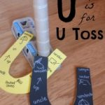 Letter of the Week ~ Letter U ~ U toss