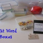 SIGHT WORD boxes… for school or home