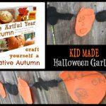 kid made Halloween decorations