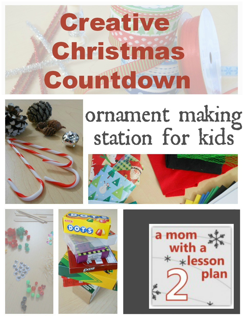 Christmas Decorations Lesson Plans : Home made christmas decorations ornament making station