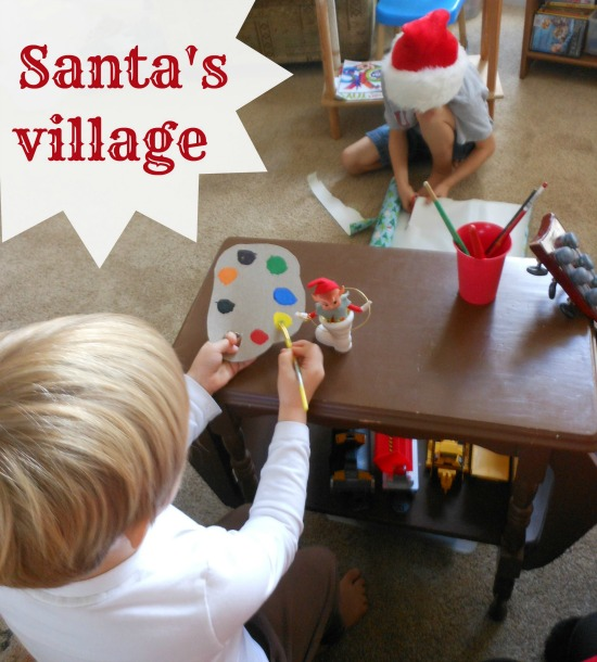 elf workshop - love this pretend play for Christmas
