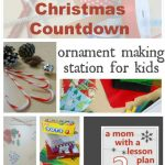 home made Christmas decorations…ornament making station