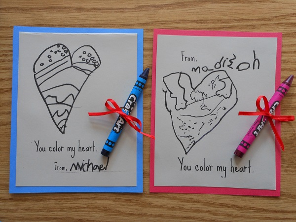 diy valentine cards for kids -- ADORABLE!