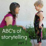 ABCs of Storytelling… F – J