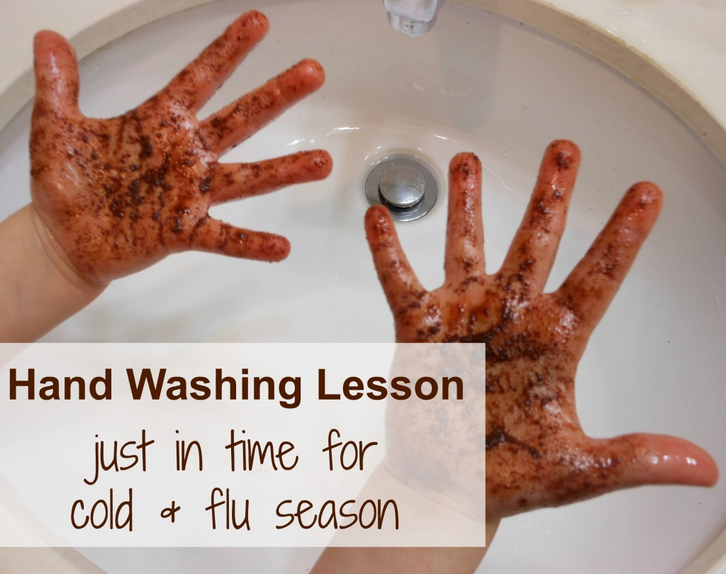 Hand washing for kids -- great for cold season and back to school!