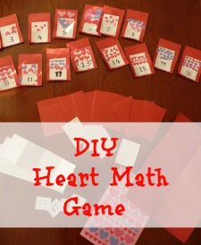 Valentine memory game for working on numbers