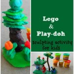 Lego Sculptures with Play Doh