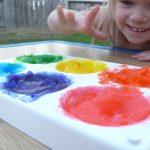 SENSE OF TOUCH Reverse Finger Painting