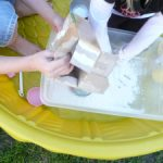 for the LOVE of a mess ~ cornstarch and water