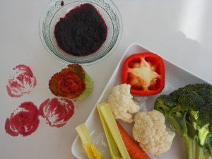 Letter of the Week ~ Letter V ~ Vegetable Stamping