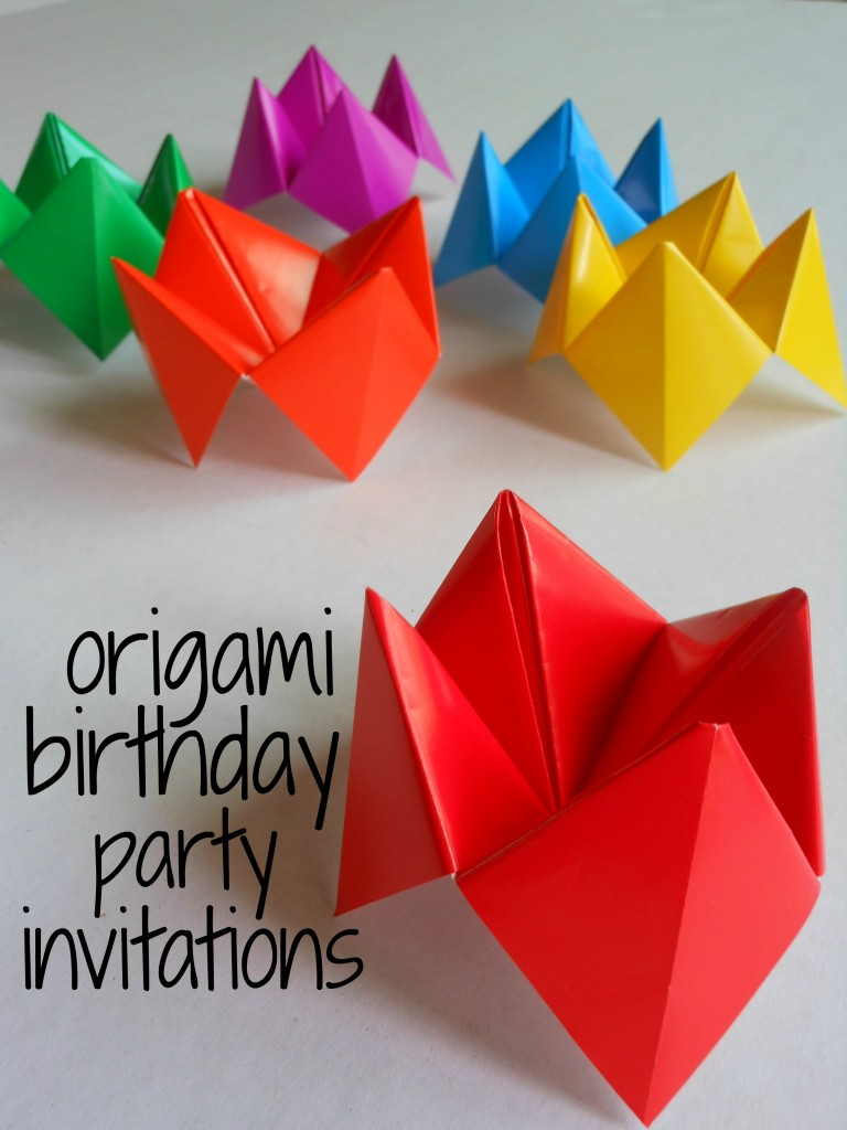 Birthday Party Invitations Origami for kids