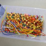 Hands on Math Activity with Beads, Pipe Cleaners and Dice