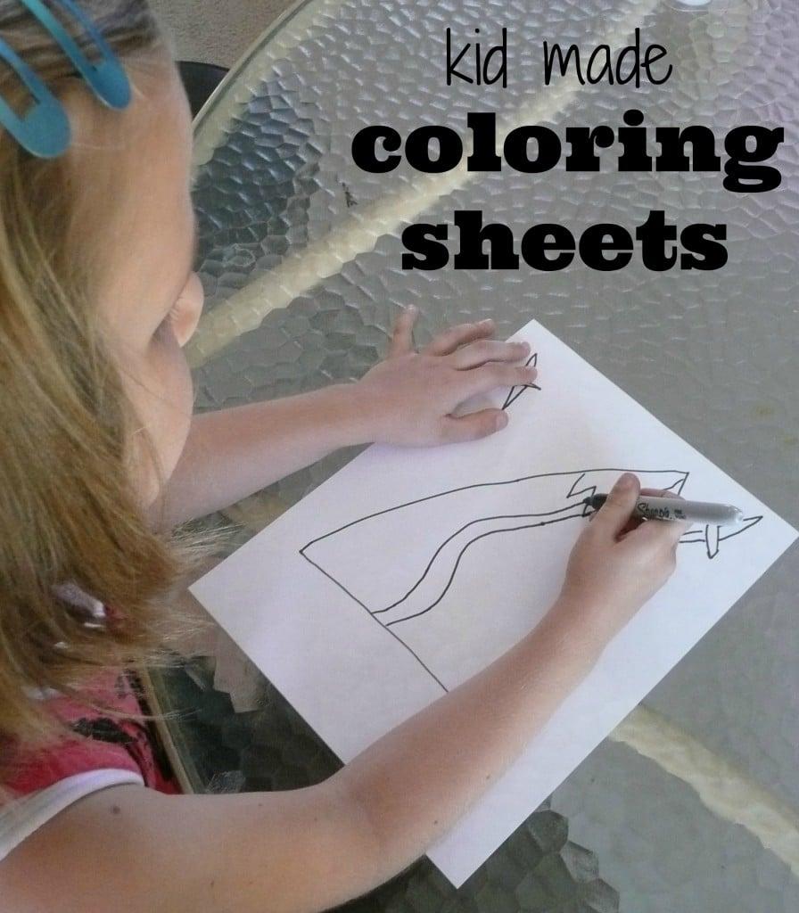 Kid made coloring sheets. smart!