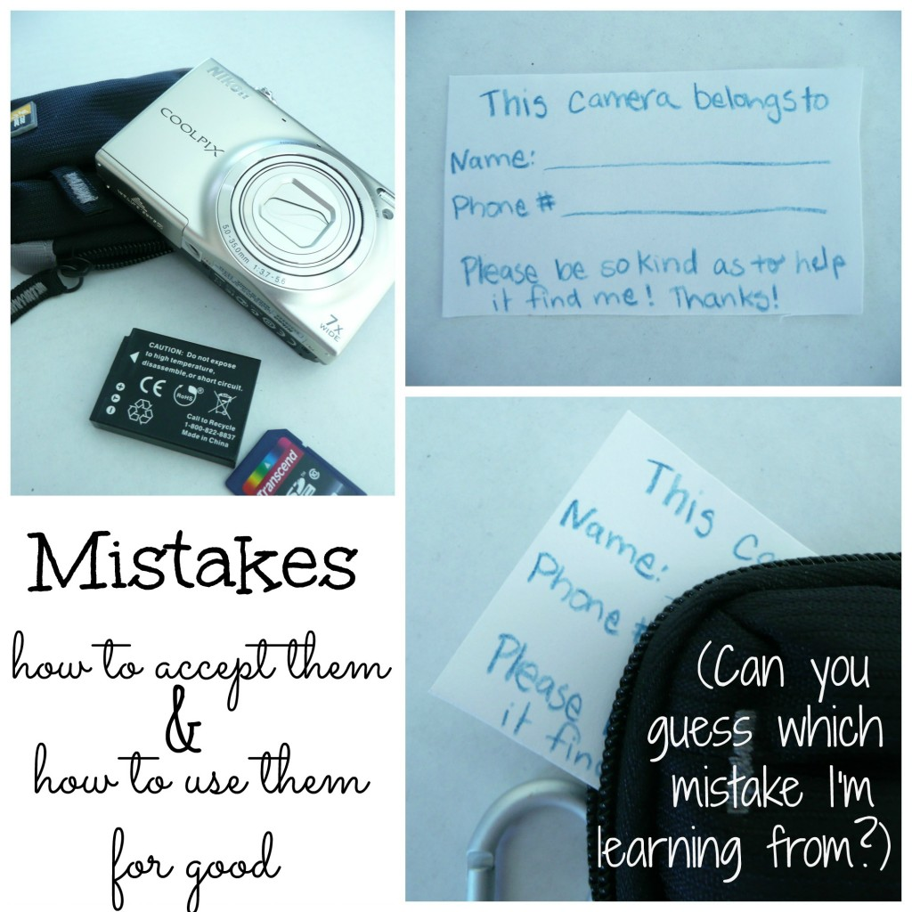 Making Mistakes... how to accept them and make the most of them