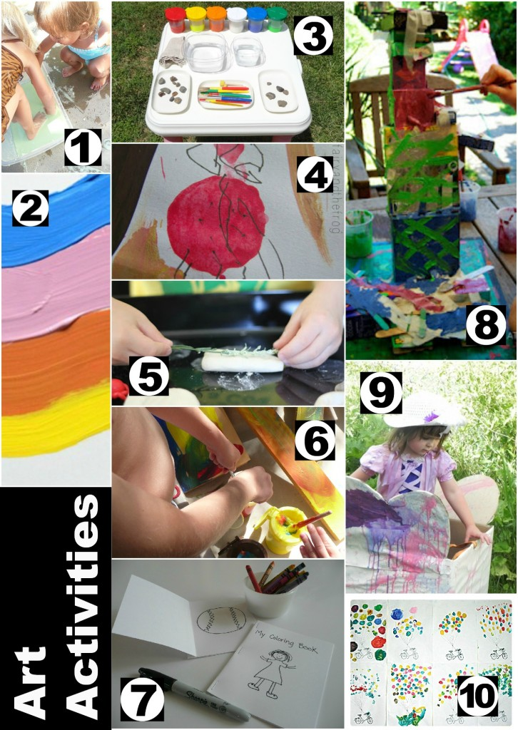 10 awesome art activities for kids!