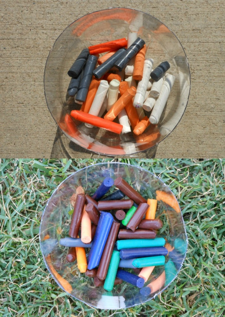 Melting Crayons... easy and fun backyard science
