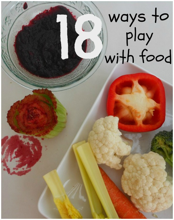 18 ways to play with food (including sensory, math, science, art and more!)