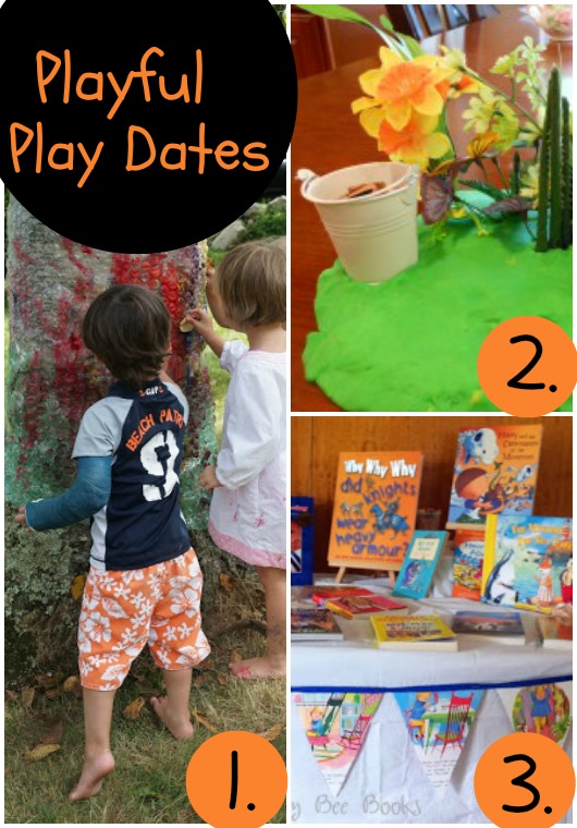 Playful Play Dates for toddlers and preschoolers