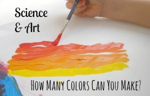 Science Experiment – Mixing Paint Colors