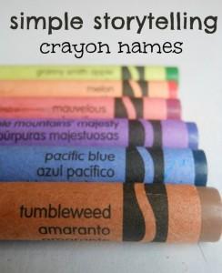 Storytelling Activity using Crayon Names