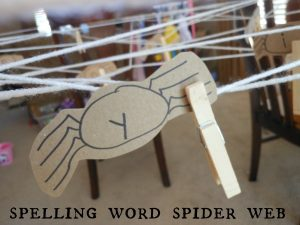 Spelling Words Activity: Spider web search