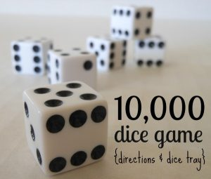 10,000 Dice Game Rules and Tray