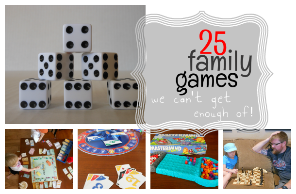How much time do you have? The best family games list is broken into sections for how long they take to play!