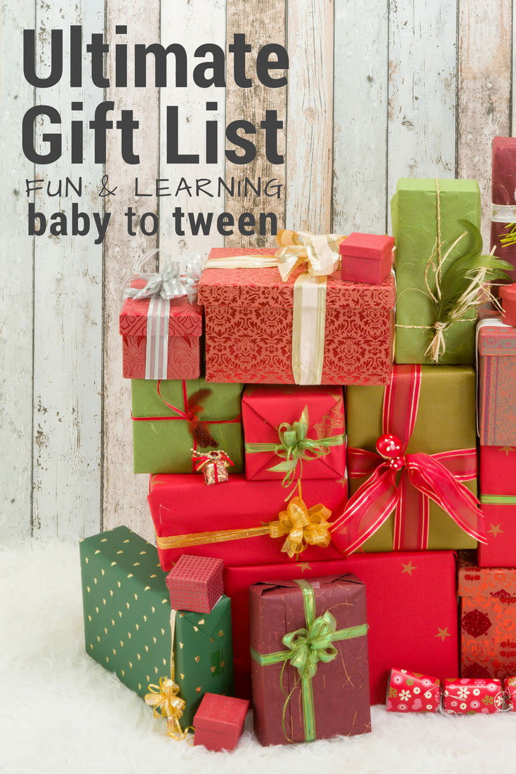 Huge list of gifts for kids... full of fun and learning