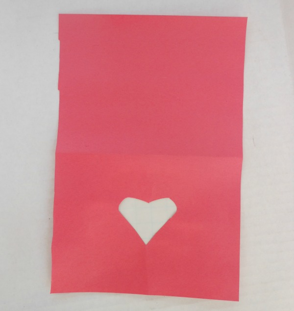 tissue paper window heart cards