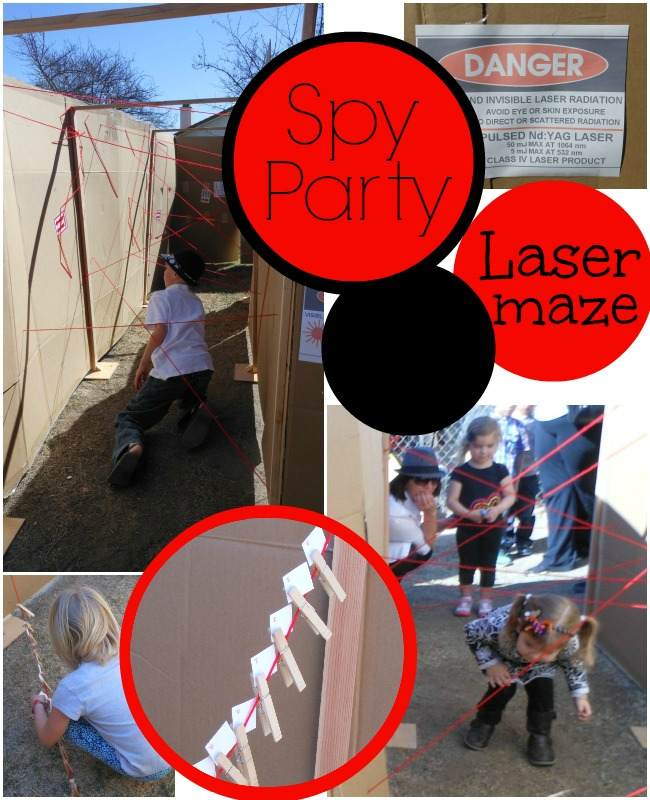 Spy Party Game #1 -- Laser Maze (and collect a clue)