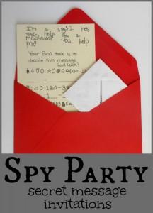 Secret Message Spy Party Invitations {Includes Secret Code}