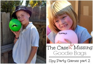More Spy Party Games – The Case of the Missing Goodie Bags – Part 2