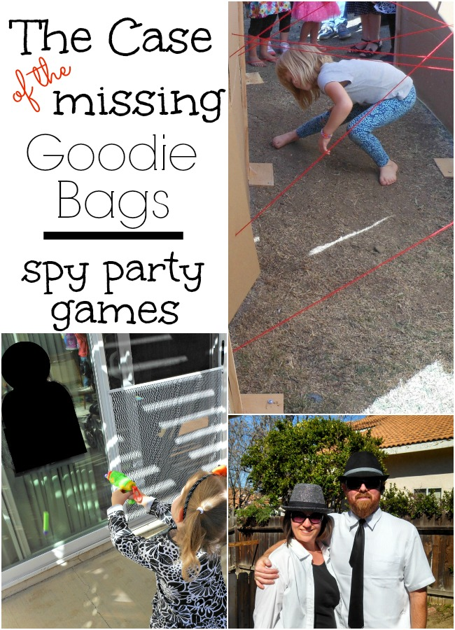 the case of the missing goodie bags. simple spy party games!