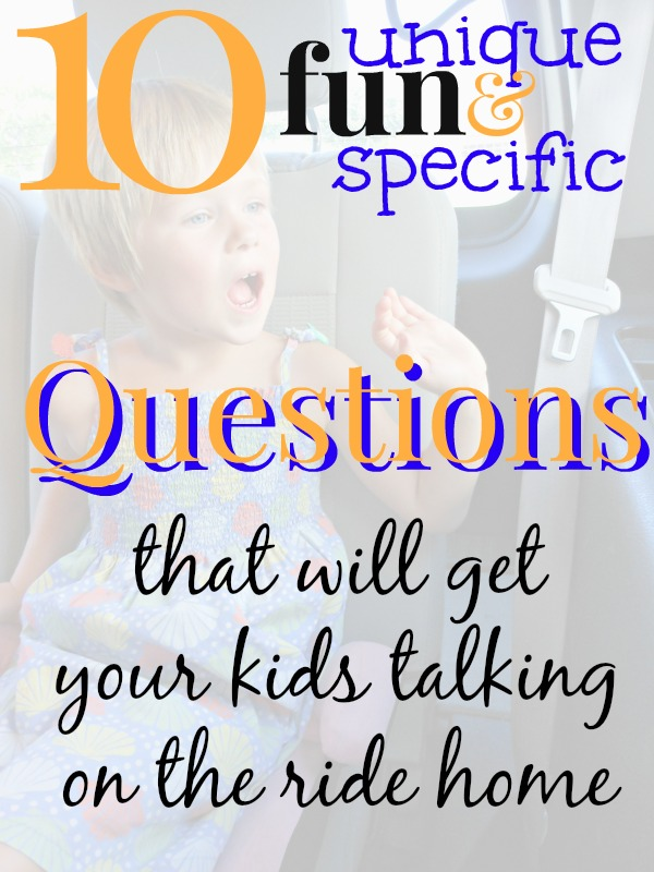 Love these questions to ask kids about school