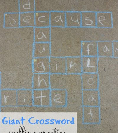 Giant Crossword Puzzle for Kids