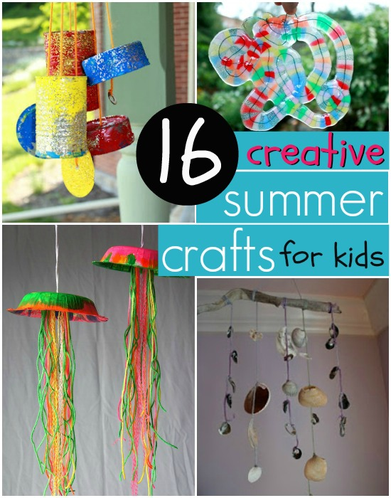 16 creative and easy summer crafts for kids