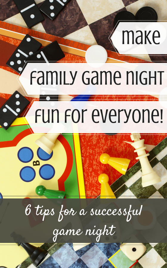 family game night tips! Love #3