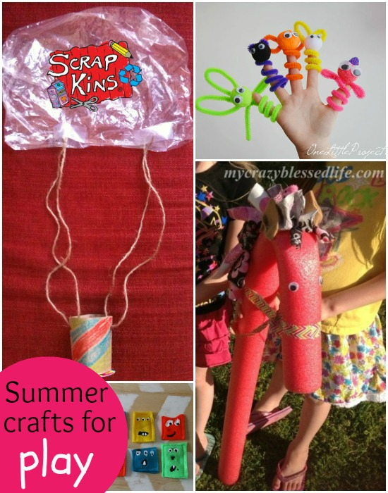 summer crafts for kids to use, to play with, to hang and for outside fun