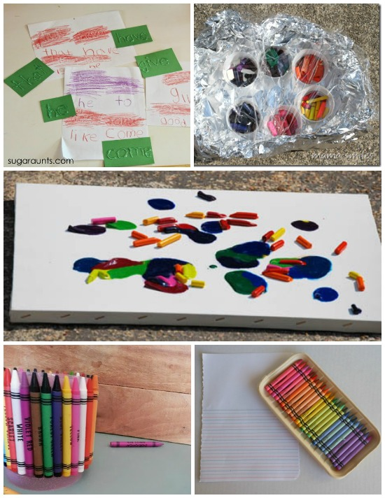 14 Super Cool Things to do with Crayons - Love this list! Can't wait to try melting crayons.