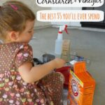 Cornstarch, Baking Soda and Vinegar Experiment (with a twist)