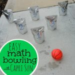 Easy Math Bowling with Capri Sun Pouches