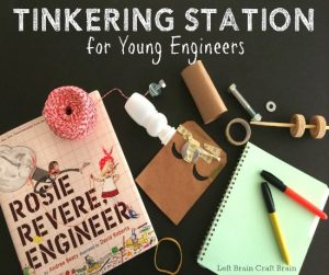 Tinkering Station for Young Engineers (I want the book!)
