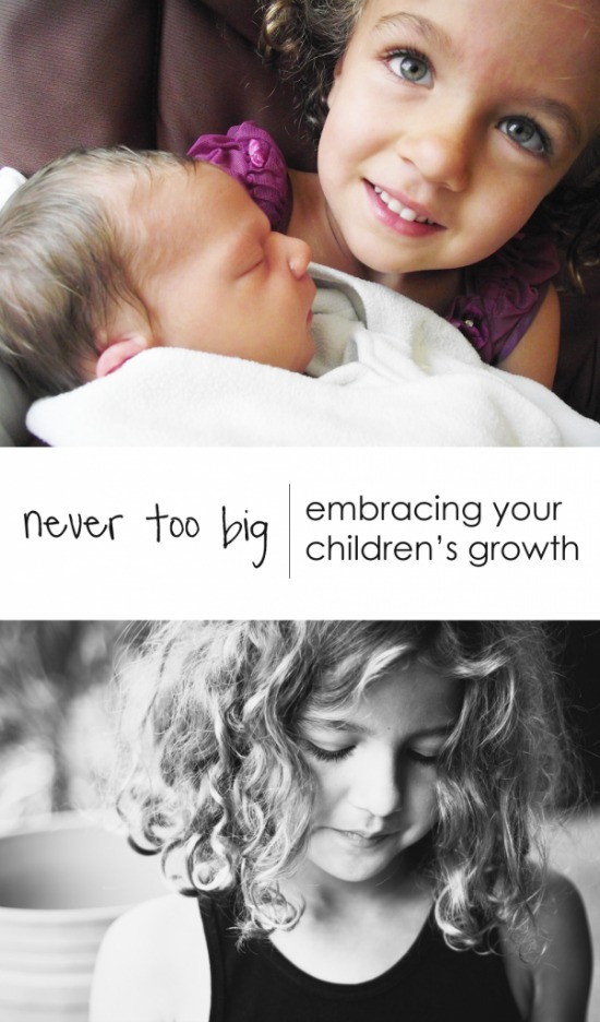 I adore this post about keeping perspective as the kids grow and change.