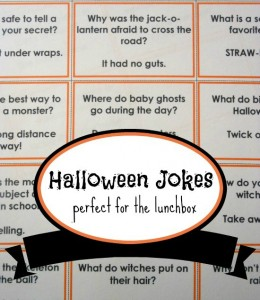 Halloween jokes for kids (with printable)