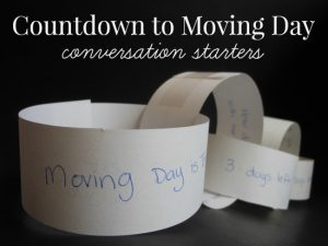 Countdown to Moving Day Conversation Starters for Kids