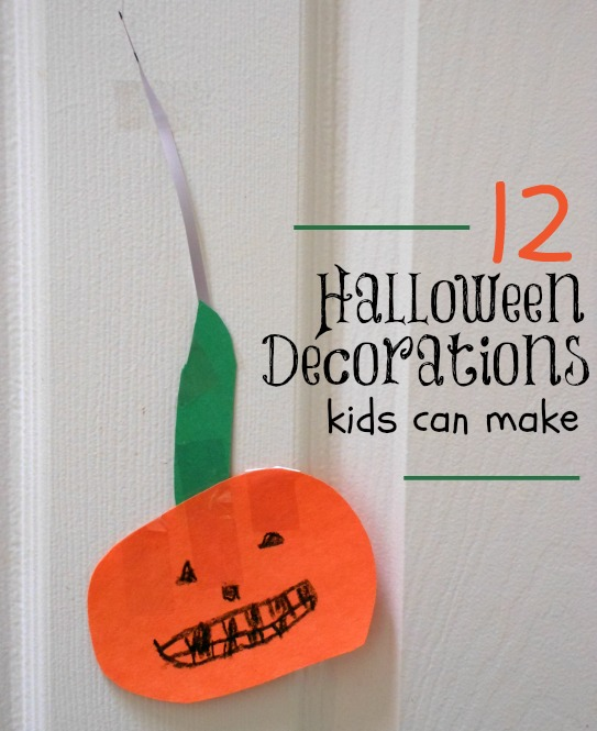 Easy halloween decorations the kids can make - Centerpieces kids can make ...
