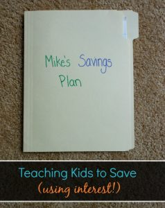 Easy Savings Plan for Kids (with Incentive)