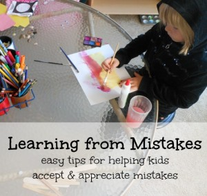 learning from mistakes... great tips for parents