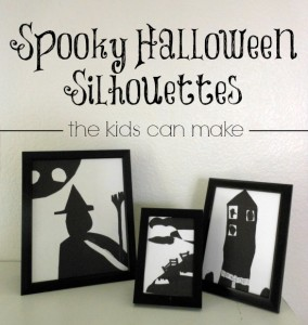 Spooky Halloween Silhouette that Your Kid Can Make