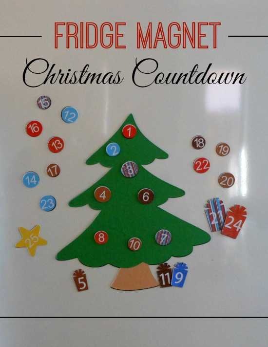 Fridge Magnet Christmas Countdown